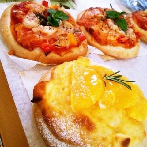 ピザベーグル/フルーツピザ